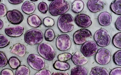Rosemary and Garlic Purple Potato Chips