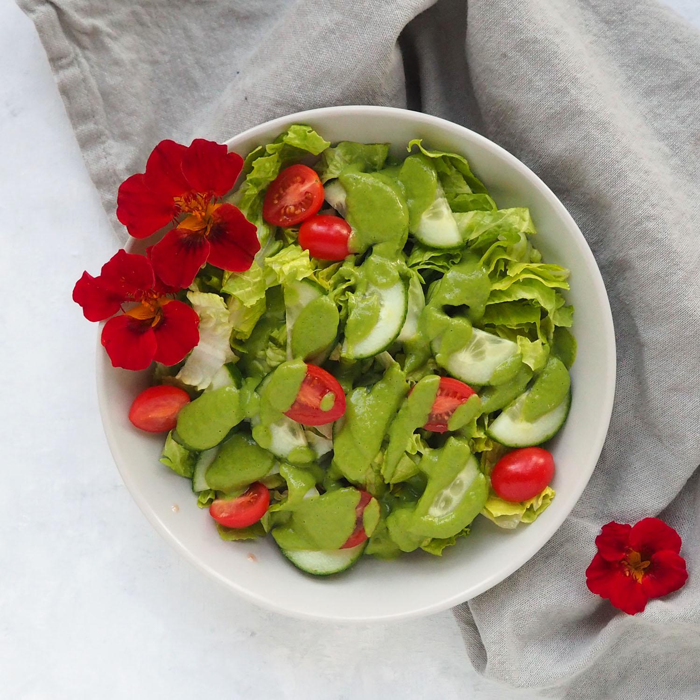 Creamy Basil Avocado Salad Dressing
