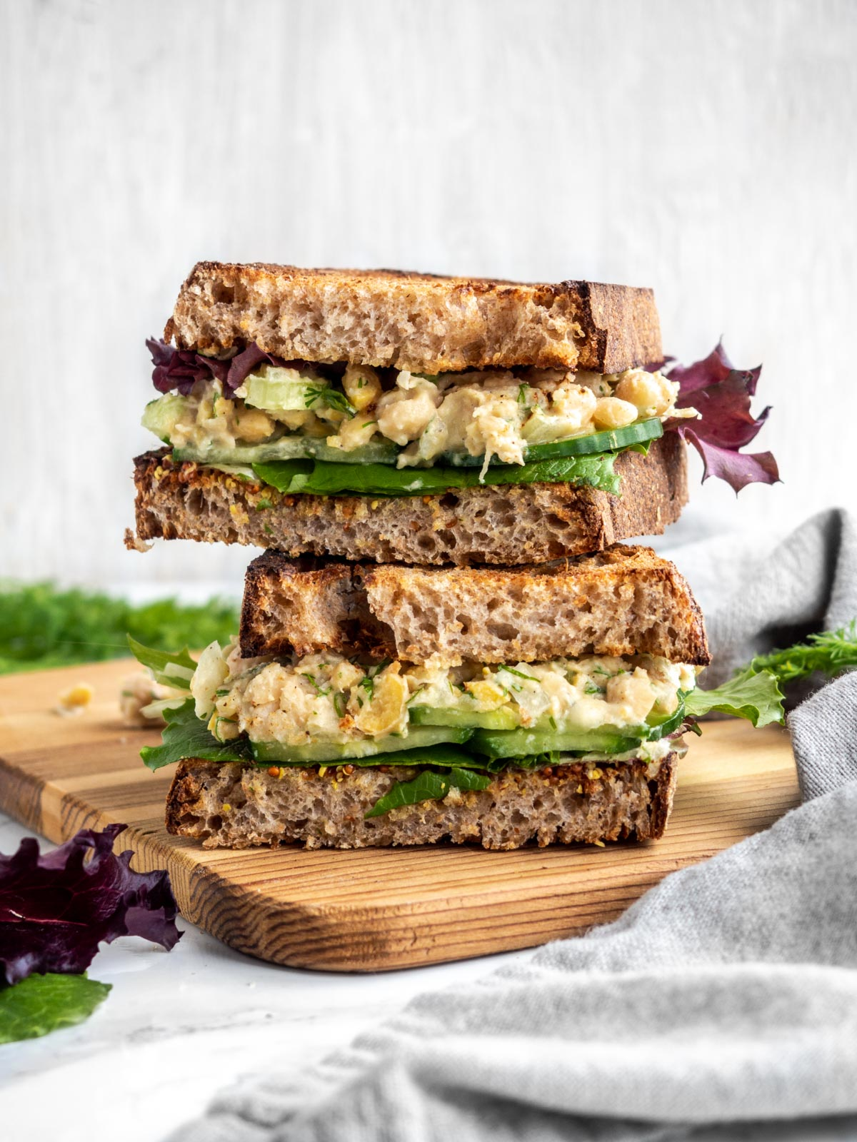 Dill Chickpea Salad Sandwich