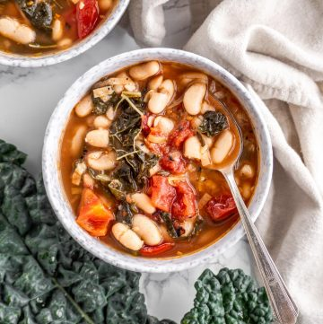 Smoky Tomato White Bean Kale Soup