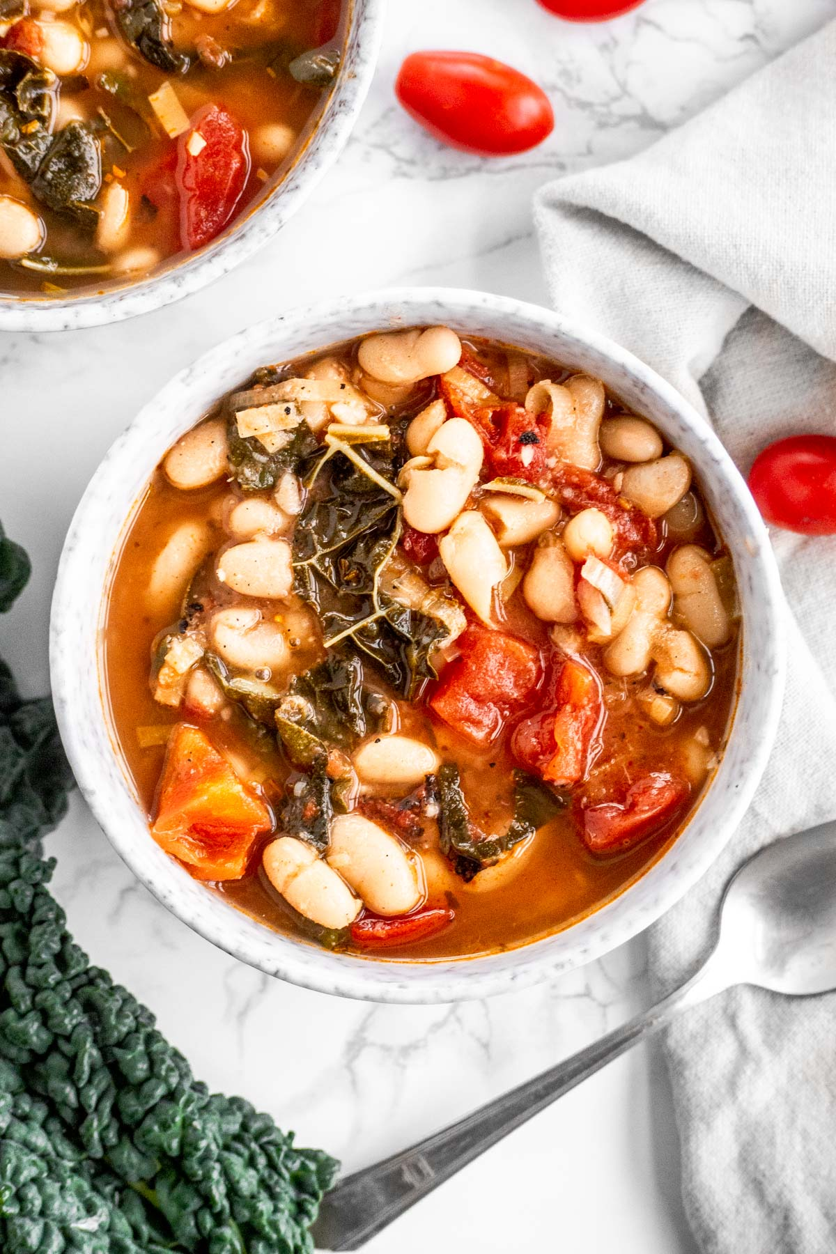 Vegan Tomato White Bean Kale Soup