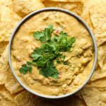 vegan queso in a bowl