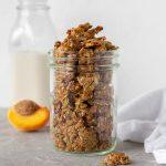 jar of homemade granola